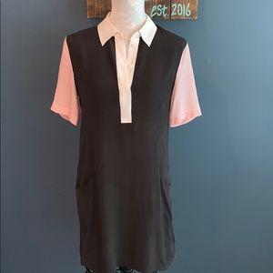 EQUIPMENT | Silk Short Sleeve Shirt Dress